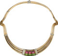 Estate Jewelry:Necklaces, Tourmaline, Gold Necklace, Gucci. ...