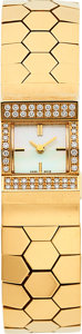 Estate Jewelry:Watches, Van Cleef & Arpels, Diamond, Mother-of-Pearl, Gold Ludo Swann Watch . ...