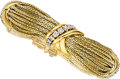 Estate Jewelry:Bracelets, Diamond, Platinum, Gold Bracelet, French. ...