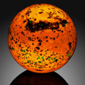 Lapidary Art:Eggs and Spheres, Fluorescent Mineral Sphere. Sterling Mine, Sterling Hill,Ogdensburg. Franklin mining district, Sussex Co.. NewJe...