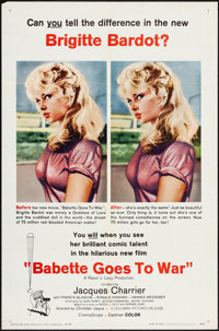 "Babette Goes to War (Columbia, 1960). One Sheet (27"" X 41""). Foreign"