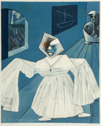Max Ernst (1891-1976) Sign for a school for pirates, 1965 Photolithograph in colors on paper 24-3
