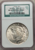 Peace Dollars, 1923 $1 MS65 Prestige Single NGC. Binion #499 of 715. NGC Census: (38133/3352). PCGS Population: (17322/2453). MS65. Mintag...