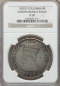 Colombia: Cundinamarca. Republic 8 Reales 1820-JF F15 NGC