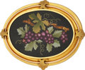 Estate Jewelry:Brooches - Pins, Victorian Hardstone, Gold Brooch. ...