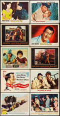 """Movie Posters:Western, 3 Godfathers & Others Lot (MGM, 1948). Lobby Cards (9) & Title Lobby Card (11"""" X 14""""). Western.. ... (Total: 10 Items)"""