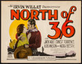 "Movie Posters:Western, North of 36 (Paramount, 1924). Title Lobby Card (11"" X 14""). Western.. ..."