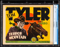 """Terror Mountain (Film Booking Offices of America, 1928). CGC Graded Title Lobby Card (11"""" X 14""""). Western"""