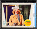 """Movie Posters:Western, The Singing Cowgirl (Grand National, 1938). CGC Graded Lobby Card (11"""" X 14""""). Western.. ..."""