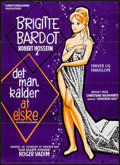 """Movie Posters:Foreign, Love on a Pillow (Asa, 1963). Danish Poster (24.25"""" X 33.5""""). Foreign.. ..."""