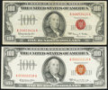Small Size:Legal Tender Notes, Fr. 1550 $100 1966 Legal Tender Note. Very Fine;. Fr. 1551 $100 1966A Legal Tender Note. Very Fine-Extremely Fine.. ... (Total: 2 notes)