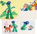 Animation Art:Production Drawing, Gumby and Gumby's Pal Pokey Storybook Illustration by GeorgeDeSantis Group of 5 (Whitman, 1968).... (Total: 5 Original Art)