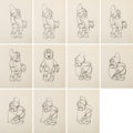 Animation Art:Production Drawing, Snow White and the Seven Dwarfs Animation Drawing Sequence of 11 (Walt Disney, 1937).... (Total: 11 Original Art)