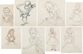 Animation Art:Production Drawing, Alice in Wonderland Alice Animation Drawings Group of 8(Walt Disney, 1951).... (Total: 8 Original Art)