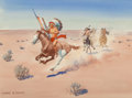 Works on Paper, Leonard Howard Reedy (American, 1899-1956). Cheyenne Warrior. Watercolor on paper. 8 x 10-3/4 inches (20.3 x 27.3 cm) (s...