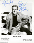 "Music Memorabilia:Autographs and Signed Items, Peter Allen Signed Photograph. In the 1970s, Peter Allen gainedrecognition both as a composer of romantic ballads such as ""..."