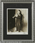 "Music Memorabilia:Autographs and Signed Items, Louis Armstrong Signed Photograph. An 8"" x 10"" matted and framedphoto signed by the influential jazz trumpeter. In Good con..."