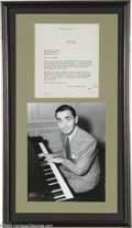 Music Memorabilia:Autographs and Signed Items, Irving Berlin Signed Letter With Photograph (1940). Easily the most successful songwriter of the 20th century, Irving Berlin...