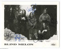 Music Memorabilia:Autographs and Signed Items, Blind Melon Signed Photograph. One of the up-and-coming alternativebands of the early '90s, Blind Melon enjoyed rapid succe...