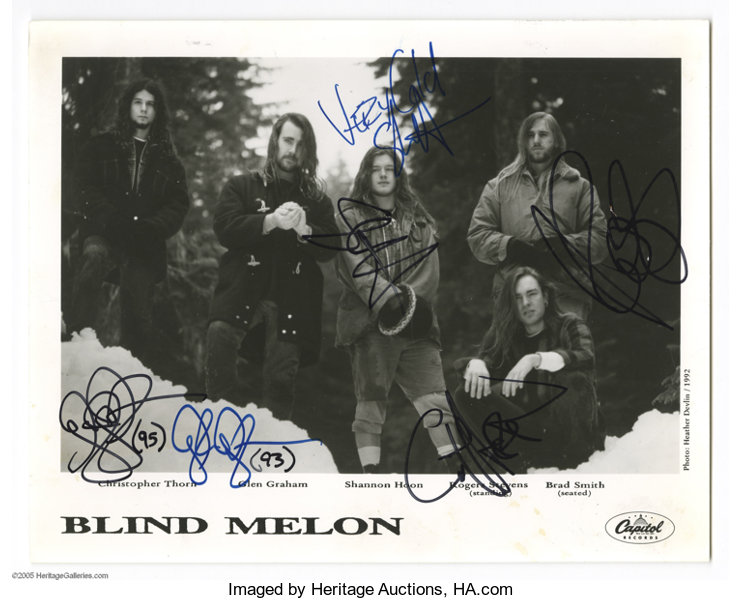 Blind Melon Signed Photograph One Of The Up And Coming Lot 21021