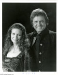 Music Memorabilia:Autographs and Signed Items, Johnny Cash and June Carter Cash Signed Photograph. One of theall-time great country music duos and fascinating couples (th... (3Items)