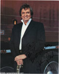 Music Memorabilia:Autographs and Signed Items, Johnny Cash Signed Photograph Plus Other Country Singers. Althoughby-and-large considered a country musician, Johnny Cash's... (3Items)
