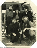 """Music Memorabilia:Autographs and Signed Items, Johnny Cash, Willie Nelson, and Waylon Jennings Signed Photograph.Collectively known as """"the Highwaymen,"""" country music leg..."""
