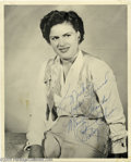 "Music Memorabilia:Autographs and Signed Items, Patsy Cline Signed Photograph. An 8"" x 10"" black and white photoinscribed ""To Mickee, Your Friend, Many Thanks, Patsy Cline..."