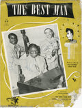 "Music Memorabilia:Autographs and Signed Items, King Cole Trio Signed Sheet Music. For the song ""The Best Man,""signed on the cover by Nat King Cole, Oscar Moore, and Johnn..."