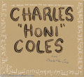 "Music Memorabilia:Autographs and Signed Items, Charles ""Honi"" Coles Signed Fan Art. A paint-on-illustration-boardpainting by Dallas artist Marvin Sigel, signed by tap leg..."