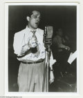 "Music Memorabilia:Autographs and Signed Items, Perry Como Signed Photograph. A black and white 8"" x 10"" photo ofthe crooner, inscribed ""To Dennis, Best wishes, Perry Como..."