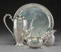 Silver Holloware, American:Tea Sets, A Four-Piece Gorham-Durgin Puritan Pattern DemitasseService, Providence, Rhode Island, mid-20th century. Marks ...(Total: 4 Items)