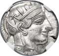 Ancients:Greek, Ancients: ATTICA. Athens. Ca. 440-404 BC. AR tetradrachm (24mm, 17.19 gm, 4h). NGC MS ★ 5/5 - 5/5....