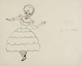 Animation Art:Production Drawing, Uncle Tom's Cabana Little Eva Animation Drawing (MGM, 1947)....