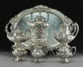 Silver Holloware, American:Tea Sets, A Seven-Piece Reed & Barton Francis I Pattern Silver Tea and Coffee Service, Taunton, Massachusetts, designed 19... (Total: 7 Items)