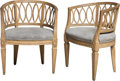 Furniture , A Pair of Swedish Louis XVI-Style Carved Beechwood Armchairs, 18th-19th century. 33 x 26 x 20 inches (83.8 x 66.0 x 50.8 cm)... (Total: 2 Items)