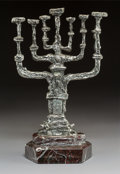 Prints & Multiples, Salvador Dalí (Spanish, 1904-1989). Peace Menorah (Silver), circa 1981. Silvered bronze. 20 x 12-1/4 inches (50.8 x 31.1...