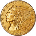 Indian Half Eagles, 1908 $5 MS66+ PCGS. CAC....