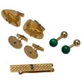Estate Jewelry:Lots, Gentleman's Multi-Stone, Gold Jewelry, Tiffany & Co.. ... (Total: 4 Items)