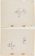 Animation Art:Production Drawing, The Whoopee Party Mickey Mouse and Minnie Mouse Animation Drawing (Walt Disney, 1932).... (Total: 2 Original Art)