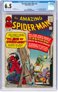 Silver Age (1956-1969):Superhero, The Amazing Spider-Man #18 (Marvel, 1964) CGC FN+ 6.5 Off-white towhite pages....