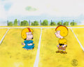 Animation Art:Production Cel, Peanuts - It's Your First Kiss, Charlie BrownFootball-Themed Production Cel Setup and Animation Drawings Group(Bill ... (Total: 3 Items)
