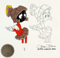 Animation Art:Limited Edition Cel, Duck Dodgers and the Return of the 24½th Century Marvin the Martian Limited Edition 1 of 1 Cel and Production Drawing ... (Total: 3 Items)