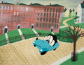 Animation Art:Concept Art, Susie the Little Blue Coupe Color Key Concept Painting by Mary Blair (Walt Disney, 1952)....