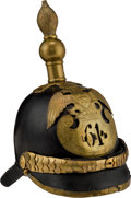 Militaria:Helmets, Imperial Russian Infantry Regiment Nr. 61 Enlisted Mans' Spiked Helmet Circa Mid-19th Century....