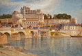 Fine Art - Work on Paper, Samuel Colman (American, 1832-1920). Chateau de Amboise,France. Watercolor on paper. 13 x 19 inches (33.0 x 48.3 cm)(s...