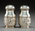 Silver Holloware, American:Other , A Pair of Gorham Mfg. Co. Silver Salt and Pepper Shakers,Providence, Rhode Island, circa 1892. Marks: (anchor), GORHAMCO... (Total: 2 Items)