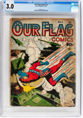 Golden Age (1938-1955):Superhero, Our Flag Comics #3 (Ace, 1941) CGC GD/VG 3.0 Cream to off-white pages....
