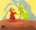 "Animation Art:Limited Edition Cel, Dr. Seuss' How the Grinch Stole Christmas ""Just Like St.Nick"" Limited Edition Cel #42/150 (MGM/Chuck Jones, 1999)....(Total: 2 )"