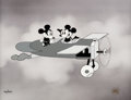 """Animation Art:Limited Edition Cel, Plane Crazy """"First Flight"""" Mickey Mouse and Minnie MouseLimited Edition Cel #26/350 (Walt Disney, 1994)...."""